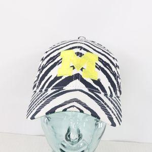 Vintage Zubaz Michigan Wolverines Snapback Hat
